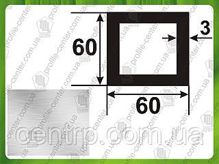 60*60*2. Алюминиевая труба квадратная. Без покрытия.