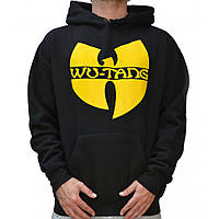 Худи чёрная жёлтый принт Wu-Tang Clan | Толстовка стильная