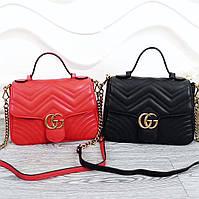 Небольшая кожаная сумка из новой коллекциии Marmont Gucci