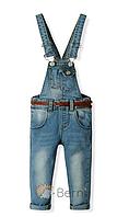 Стильный детский джинсовый комбинезон р-ры 86