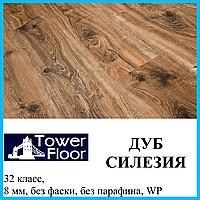 Ламинированный пол с гарантией толщиной 8 мм Tower Floor Exclusive 32 класс, Дуб Силезия