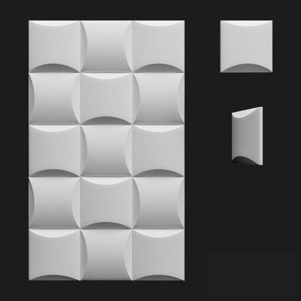 """Пластиковая форма для 3d панелей """"Бордо"""" 20*20 x4 (форма для 3д панелей из абс пластика)"""