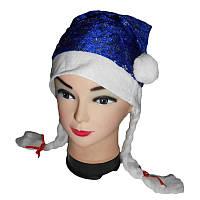 Новогодняя шапочка Снегурочка 29596  с косичками
