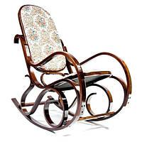 Кресло качалка темное с мягкой спинкой