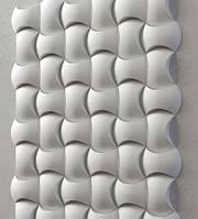 """Пластикова форма для 3d панелей """"Софт"""" 25 * 17 x4 (форма для 3д панелей з абс пластика)"""