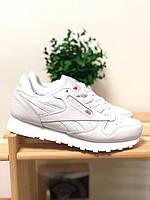 Женские кроссовки Reebok Classic Leather White / рибок классик белые