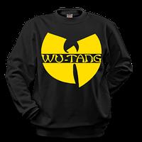 Свитшот чёрный | Кофта с жёлтым принтом Wu-Tang Clan