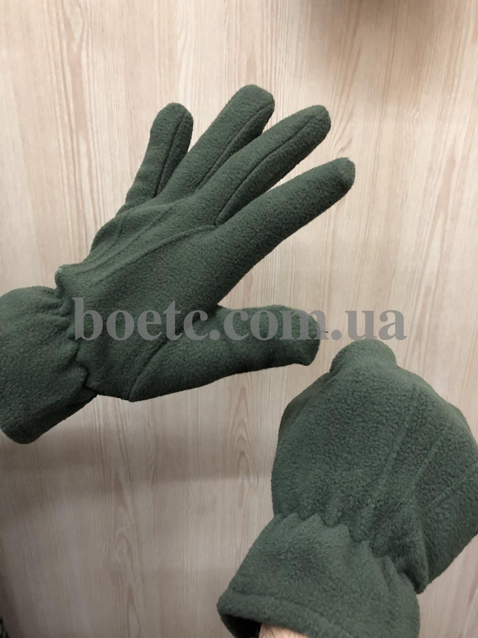 Перчатки флисовые (олива)