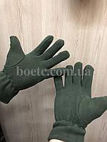 Перчатки флисовые (олива), фото 2