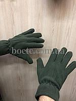 Перчатки флисовые (олива), фото 3