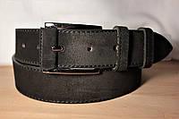 Ремень мужской кожаный замшевый 115х4см Брючный, джинсовый, под брюки и джинсы №18
