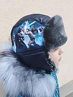 """Детская зимняя шапка для мальчика """"Железный человек"""""""
