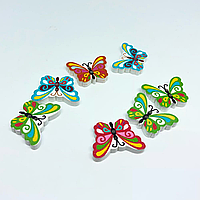 Деревянная заготовка. Бабочка. Цвет микс. 24х17мм