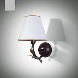 Настенный светильник, бра одноламповое флористика с абажуром 11601-4