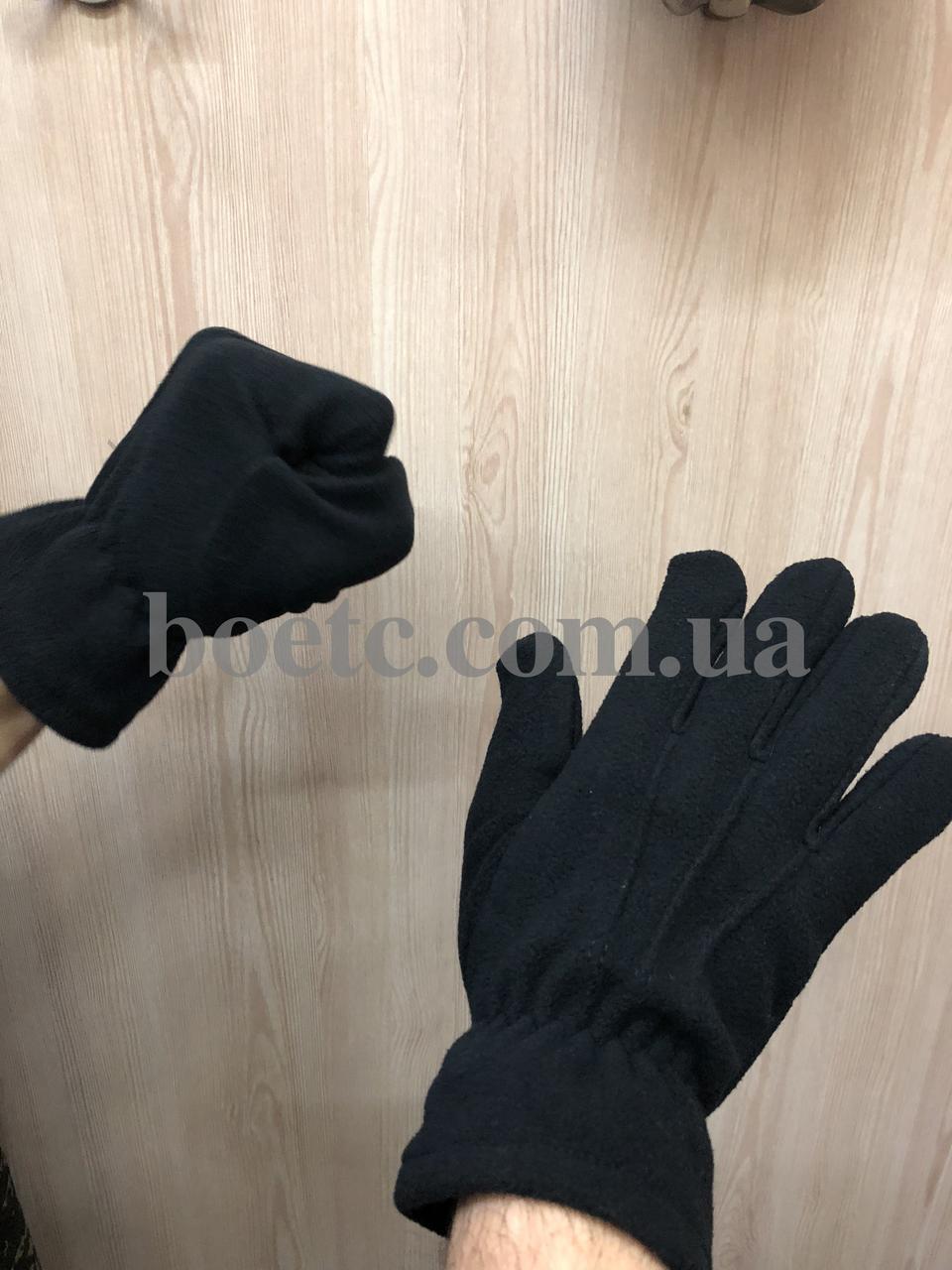 Перчатки флисовые (черные)