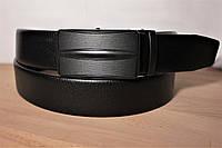 Ремень мужской кожаный автомат 3,5см. Ремень брючный 35мм