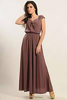 Платье в пол Мира-Макси баклажан