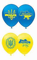"""Воздушные шары """"Украина"""" 12""""(30 см)  Цвет: Голубой, жёлтый. В упак: 100шт ТМ Арт «SHOW»"""