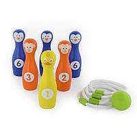 Игра 2-в-1 Боулинг и кольцо Viga toys (50665)