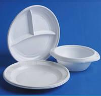 Одноразовые тарелки и миски