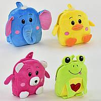 Рюкзак плюшевый мягкий Животные  25 × 10 × 27 см