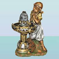 Декоративний садовий (домашній) фонтан водоспад Дівчинка біля фонтану