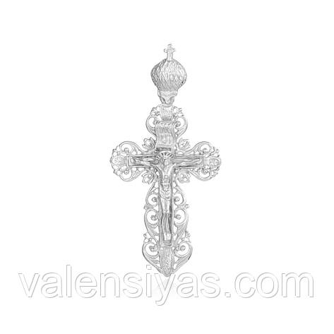 Серебряный крест П2/023, фото 2
