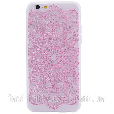 "Чехол матовый soft touch для Apple iPhone 6/6s (4.7"") Узор Розовый"