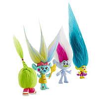 Игровой набор из 4 тролей торчащие волосы DreamWorks Trolls Wild Hair Pack Hasbro Оригинал