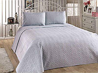 Покрывало стеганое с наволочками 240х250 Senveo светло-голубой Eponj Home