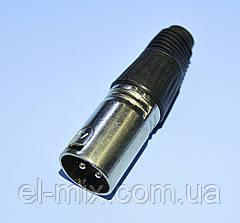 Штекер CANON (XLR) кабельный 3pin 1-0207