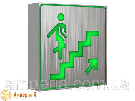 """Светодиодный аварийный светильник, знак """"Лестница"""". Указатель UPWARD (вверх, вгору), LED-NGS-33 1W (вт) NIGAS, фото 2"""