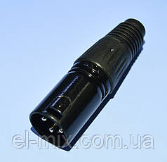 Штекер CANON (XLR) кабельный 3pin 1-0209-1