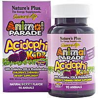 Natures Plus, Animal Parade, Пробиотический Комплекс для Улучшения Пищеварения для Детей, Ягоды, 90