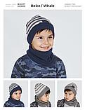 Шапка и хомут для мальчика (серая) тм ДЕМБОХАУС р-ры 44,46, фото 3