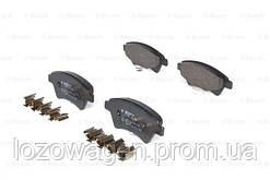 Тормозные колодки (передние) на Renault Kangoo 1998->2008 4x4 BOSCH 0986424785