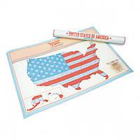 Скретч-карта США Scratch Map USA Edition Luckies