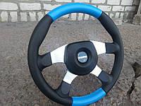 Руль Momo №587 (синий) с переходником на Ланос., фото 1