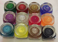 Цветной гель для ногтей(глитерный) Набор 12 шт