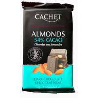 Бельгийский черный    шоколад Cachet с орехами 300 грамм