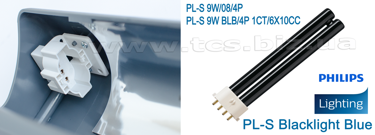 PL-S 9W BLB/4P 1CT/6X10CC PHILIPS  Ультрафіолетова лампочка, фото 6