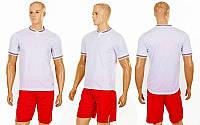 Футбольная форма Neat  (PL, р-р S-2XL, белый, шорты красные), фото 1