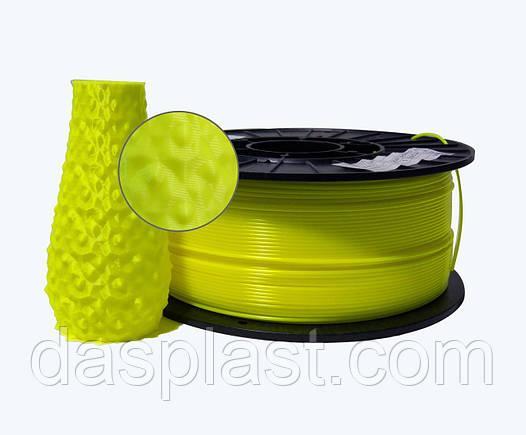 АБС пластик 1 кг для 3d принтеров и ручек, лимонный неоновый