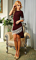 Женское мини-платье с кружевом