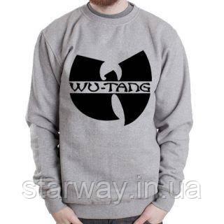 Свитшот серый | Кофта Wu Tang Clan logo top