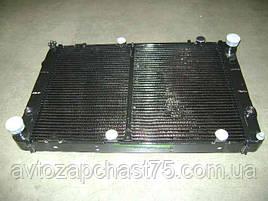 Радиатор Соболь, Газ 2217, Газель двигатель УМЗ 4216, 4215 ЗМЗ 40522 2-х рядный, медь (Шааз, Россия)