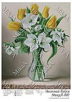 Схема на ткани под вышивку бисером Весенний букет