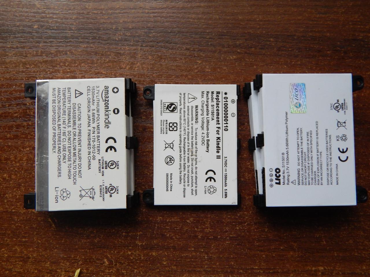 Аккумулятор, батарея Kindle 2