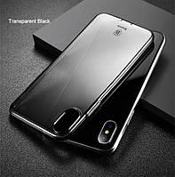 Чехол накладка iPhone X, Baseus Ultra slim case, силиконовый ультратонкий, Clear TPU Case, черный