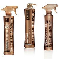 Набор для выпрямления волос Brazilian Blowout (Ionic Cleanser+Original Solution+Bonding Spray), пробник 50 мл